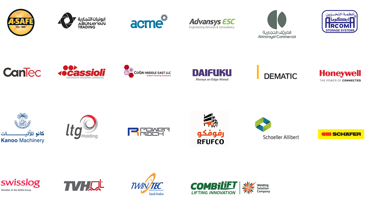 Materials Handling Saudi Arabia - Past exhibitors collage